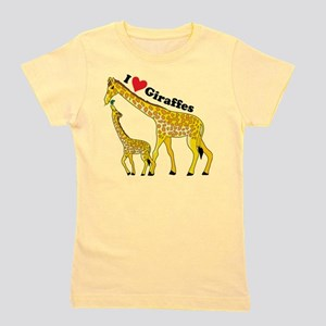 giraffe and baby cp Girl's Tee