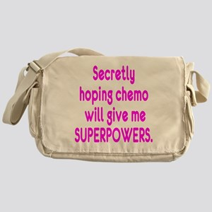 Funny Cancer Chemo Superpowers Pink Messenger Bag