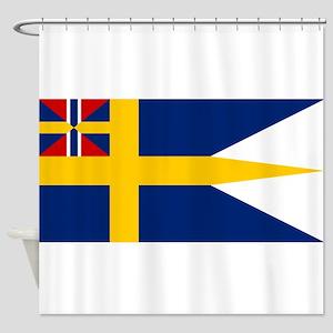 Naval ensing of Sweden 1844-1905 Shower Curtain