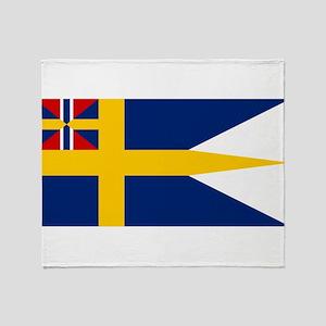 Naval ensing of Sweden 1844-1905 Throw Blanket