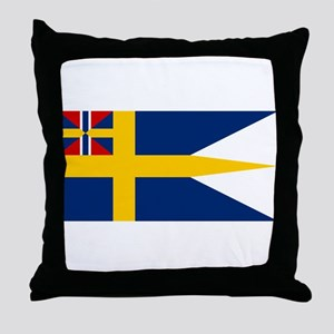 Naval ensing of Sweden 1844-1905 Throw Pillow