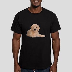 Labrador Retriever Puppy Men's Fitted T-Shirt (dar