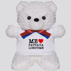 ME LOVE PATTAYA LONGTIME Teddy Bear