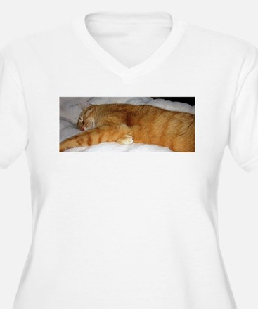 Orange Cat on His Day Off Plus Size T-Shirt