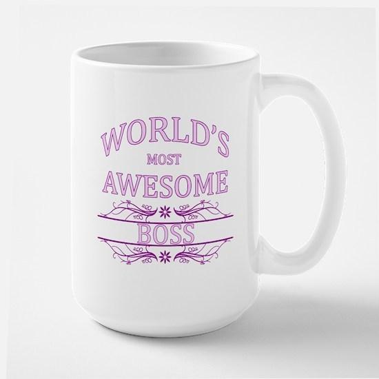 World's Most Awesome Boss Large Mug
