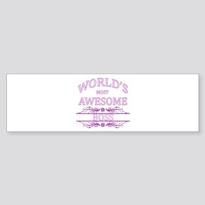 World's Most Awesome Boss Sticker (Bumper)