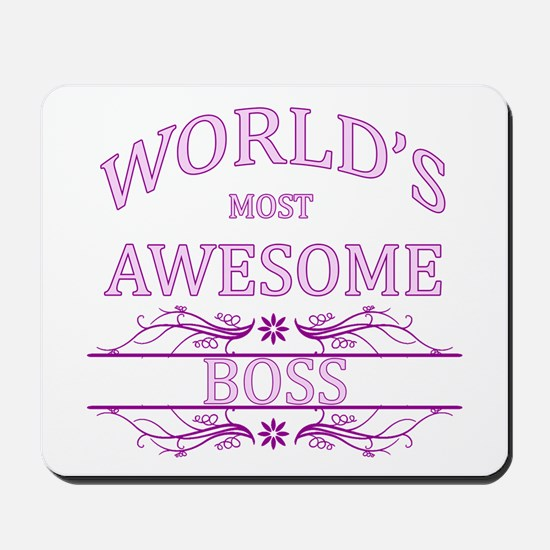 World's Most Awesome Boss Mousepad