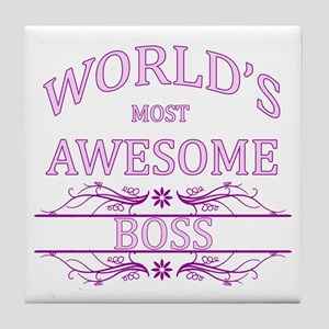 World's Most Awesome Boss Tile Coaster