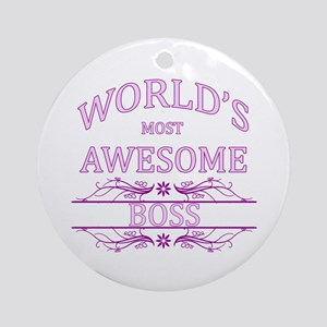 World's Most Awesome Boss Ornament (Round)