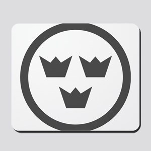 Low visibility roundel of Sweden Mousepad
