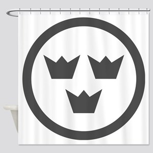 Low visibility roundel of Sweden Shower Curtain