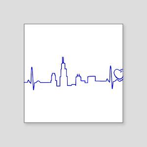 Chicago Heartbeat (Heart) BLUE Sticker
