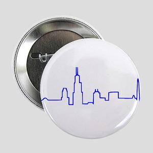 "Chicago Heartbeat (Heart) BLUE 2.25"" Button"