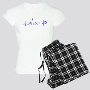 Chicago Heartbeat (Heart) BLUE Pajamas