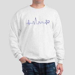 Chicago Heartbeat (Heart) BLUE Sweatshirt