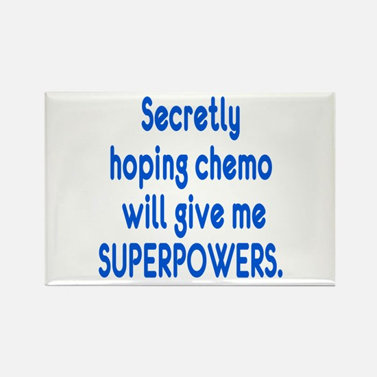 Funny Cancer Chemo Superpowers Rectangle Magnet