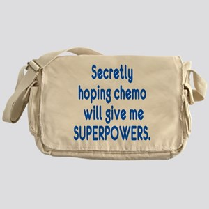 Funny Cancer Chemo Superpowers Messenger Bag