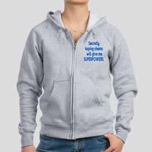 Funny Cancer Chemo Superpowers Zip Hoodie