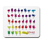 Rainbow Fingerspelled ABC Mousepad