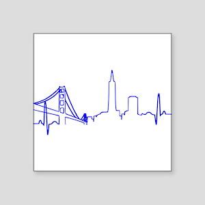San Francisco Heartbeat BLUE Sticker
