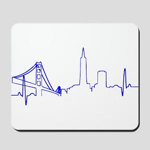 San Francisco Heartbeat BLUE Mousepad