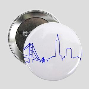 "San Francisco Heartbeat BLUE 2.25"" Button"