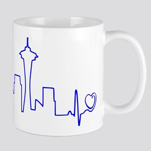 Seattle Heartbeat (Heart) BLUE Mug