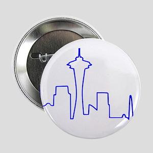 """Seattle Heartbeat (Heart) BLUE 2.25"""" Button"""