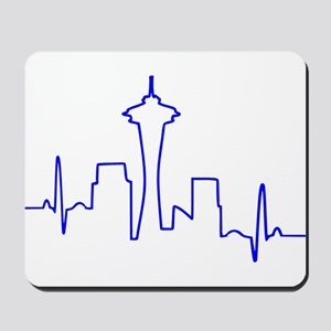 Seattle Heartbeat BLUE Mousepad