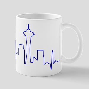 Seattle Heartbeat BLUE Mug