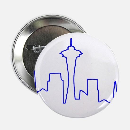 """Seattle Heartbeat BLUE 2.25"""" Button"""