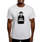 Happy Chanukah Born to Kvetch Ash Grey T-Shirt