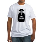 Happy Chanukah Born to Kvetch Fitted T-Shirt