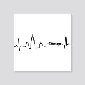 Chicago Heartbeat Letters Sticker