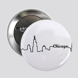 """Chicago Heartbeat Letters 2.25"""" Button"""