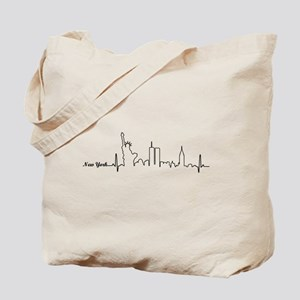 New York Heartbeat Letters Tote Bag