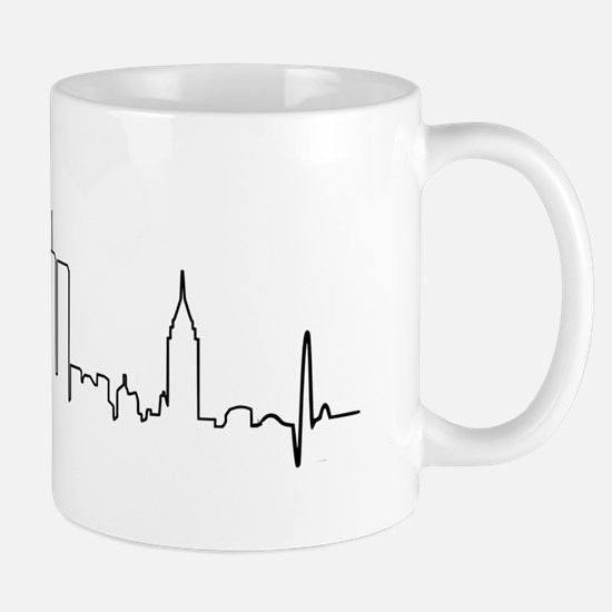 New York Heartbeat Letters Mug