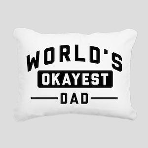 World's Okayest Dad Rectangular Canvas Pillow