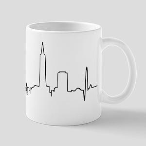 San Francisco Heartbeat Letters Mug