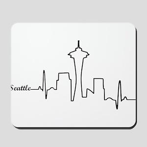 Seattle Heartbeat Letters Mousepad