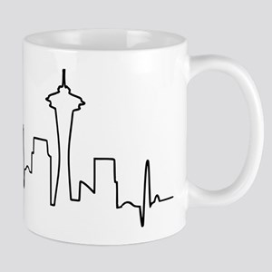 Seattle Heartbeat Letters Mug