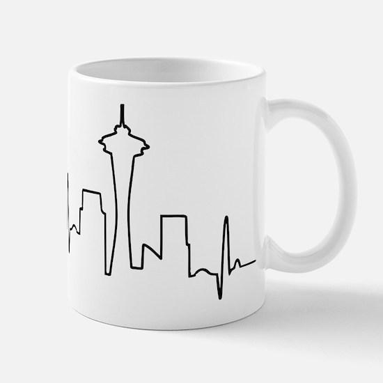 Seattle Heartbeat Letters Mug