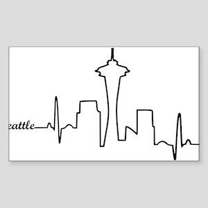 Seattle Heartbeat Letters Sticker