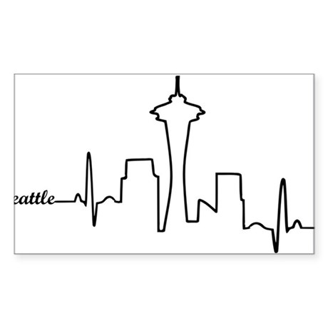 Seattle Heartbeat Letters Decal by listing-store-111699011