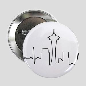 """Seattle Heartbeat Letters 2.25"""" Button"""