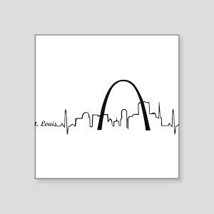 St. Louis Heartbeat Letters Sticker
