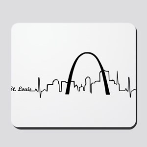 St. Louis Heartbeat Letters Mousepad