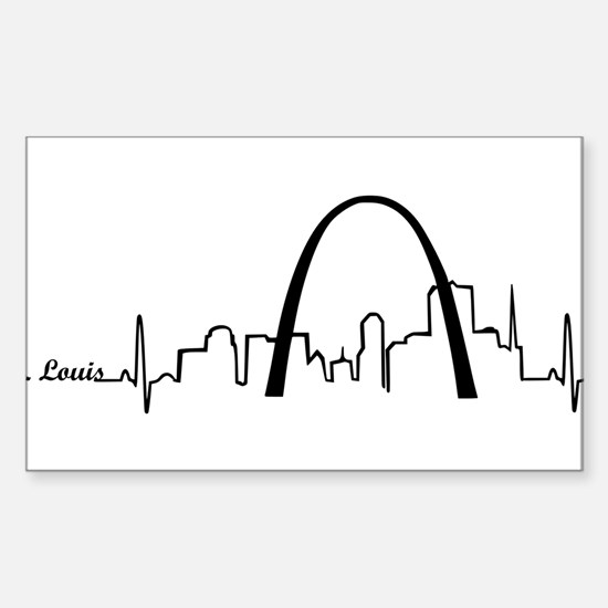 St. Louis Heartbeat Letters Decal