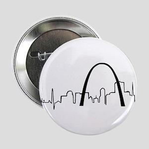 """St. Louis Heartbeat Letters 2.25"""" Button"""