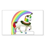 Rainbow Unicorn Rectangle Sticker